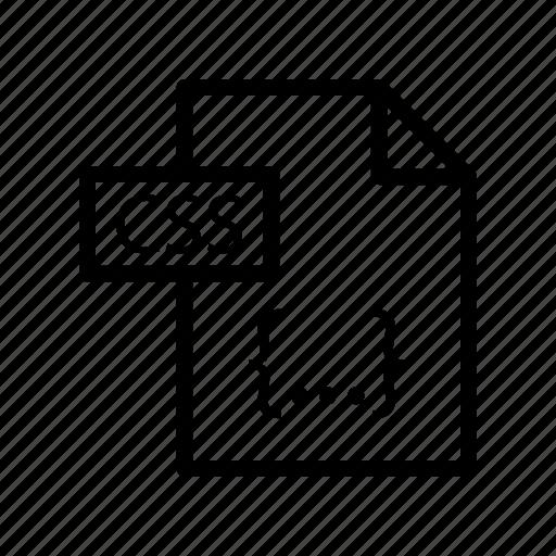 coding, css, development, file, script icon
