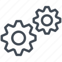 gears, settings, web, web design, website, www icon