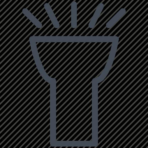 flashlight, torch light, web, web design, website, www icon
