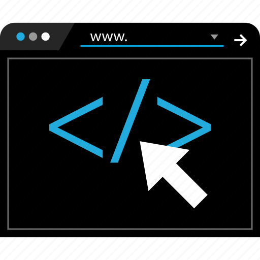 ciick, code, script, web icon