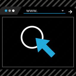 click, clicks, web, www icon