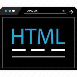 hyper, language, markup, text icon