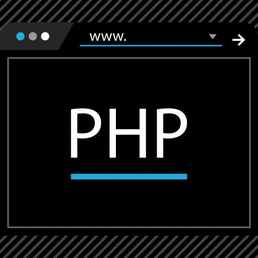 language, php, script, web icon