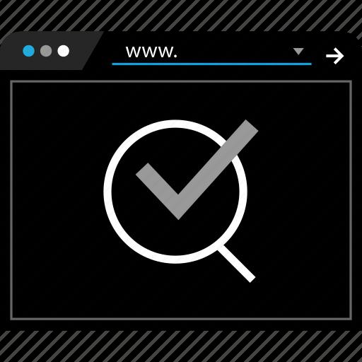 check, find, mark, search icon
