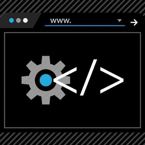 options, settings, web icon