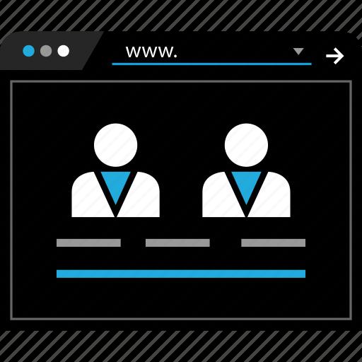 person, user, web, www icon