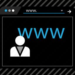 user, web, www icon