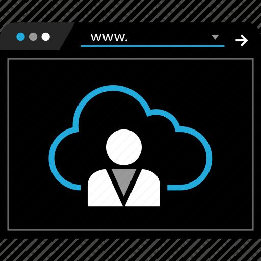 cloud, data, server, web icon