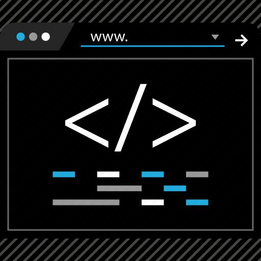 script, search, web, www icon