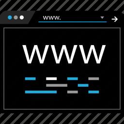 code, coding, online, www icon