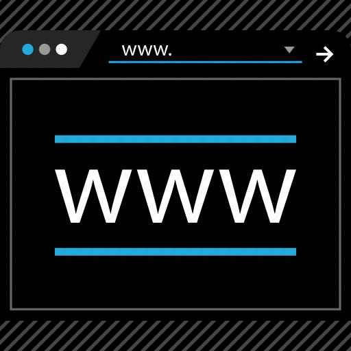 arrow, online, web, www icon