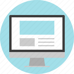 monitor, online, screen, website icon