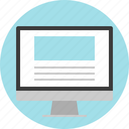 monitor, online, website icon
