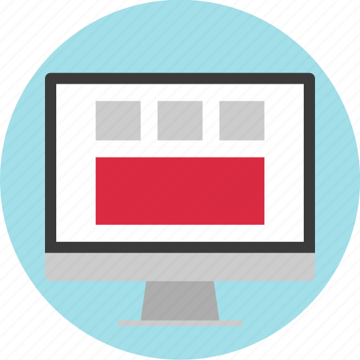blog, layout, online, web, website, wireframe icon