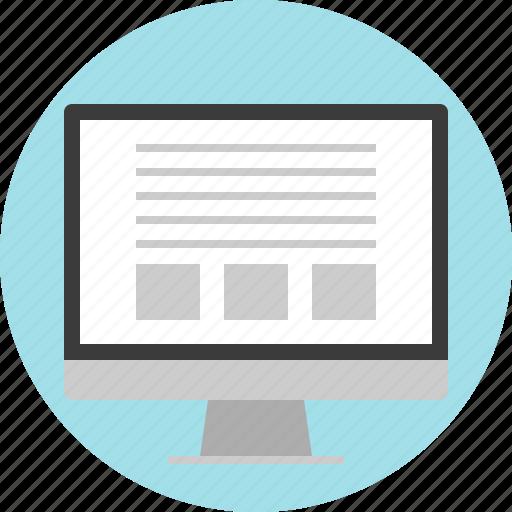 blog, gallery, list, online, website icon