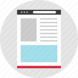 blog, online, page, website icon