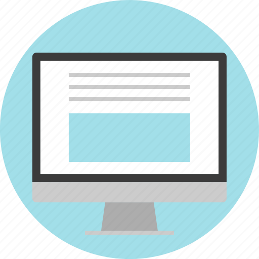 layout, monitor, online, text, website icon