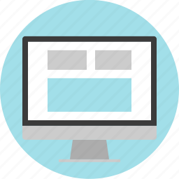 monitor, online, web, website icon
