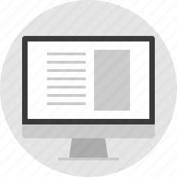 monitor, online, website, wireframe icon