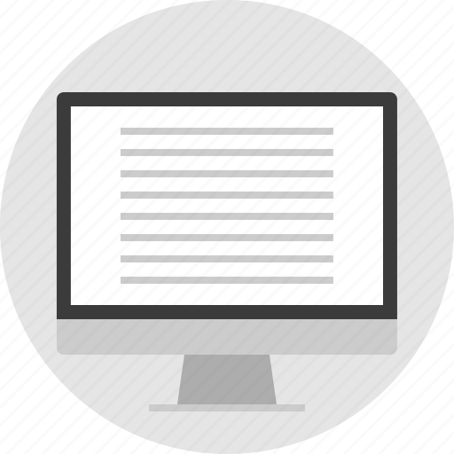monitor, online, website, wiregrame icon