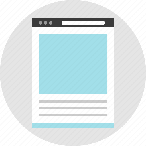 blog, frame, layout, net, news, pc, website icon