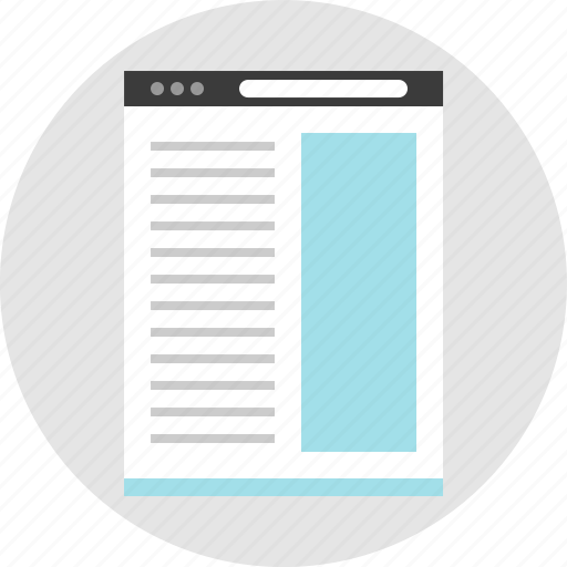 column, frame, layout, net, pc, right, website icon