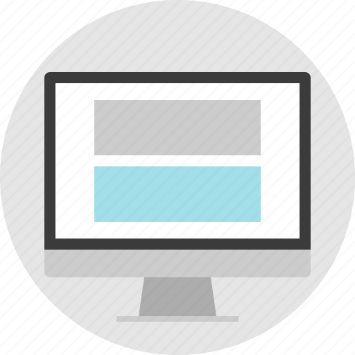 double, frame, layout, net, pc, website icon