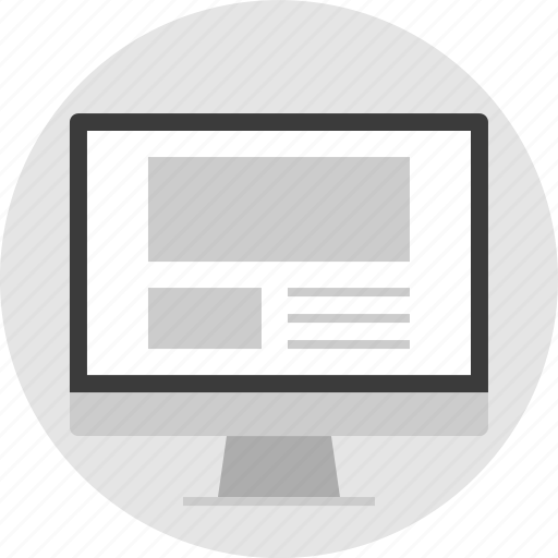 frame, gallery, layout, net, pc, website icon