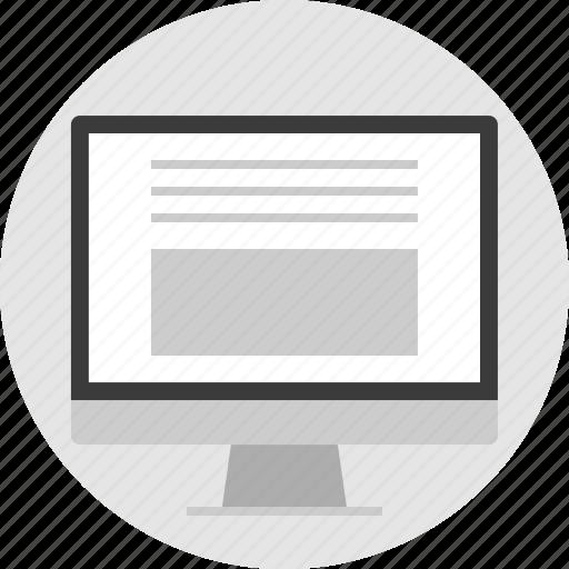 bottom, frame, large, layout, pc, photo, website icon