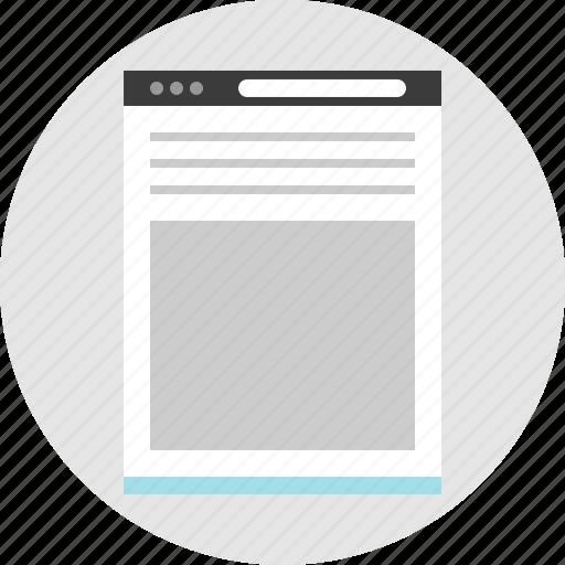 bottom, frame, large, layout, net, pc, website icon
