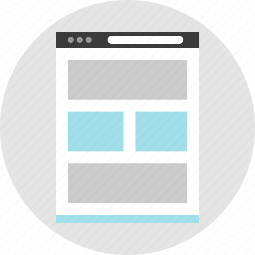 frame, layout, net, news, newsletter, pc, website icon