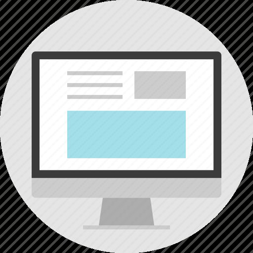 frame, layout, net, newsletter, pc, website icon