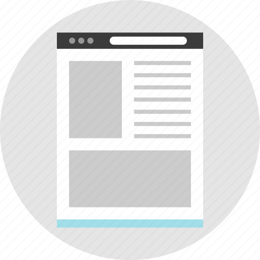 frame, layout, net, page, pc, website, wireframe icon