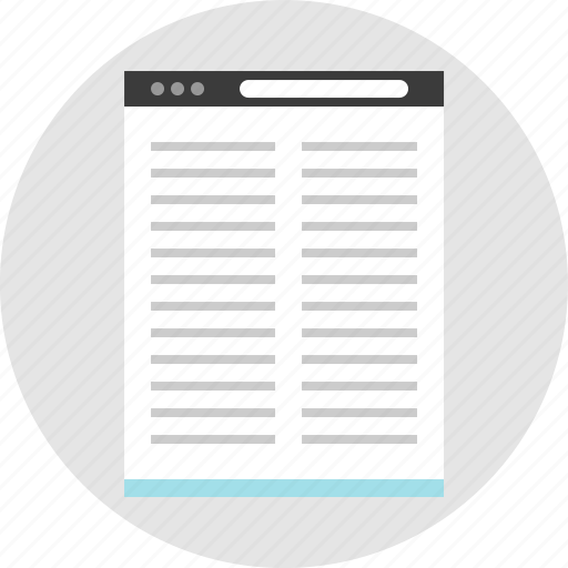 article, frame, layout, net, pc, post, website icon