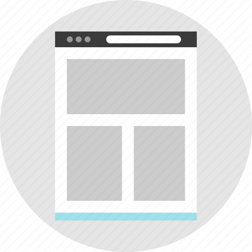 frame, layout, net, pc, website, wireframe icon