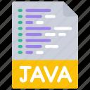 java, script, file, document, paper, js icon