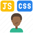 language, decisions, decision, java, script, css icon