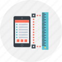 adaptive, interface, layout, ruler, template icon