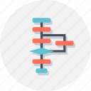 algorithm, flow, flowchart, seo, web icon
