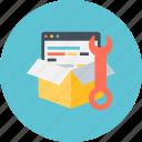 code, coding, development, div, html, source icon