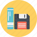 computing, data, drive, floppy, organized, storage icon