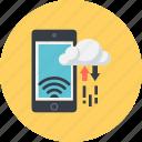 data, devices, exchange, responsive, transfer icon