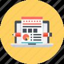 designing, development, laptop, layout, web icon