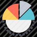 data, graph, pie, storage, visualization icon