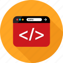 browser, code, coding, development, language, web icon