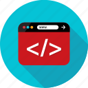 browser, code, coding, development, language, web, write icon