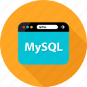 browser, data, database, development, language, mysql, web icon