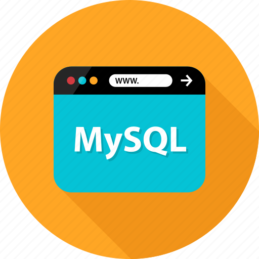 browser, data, database, development, language, mysql, web icon