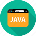 browser, development, java, language, script, web icon