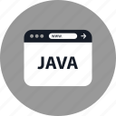 browser, coding, development, java, online, web, www icon